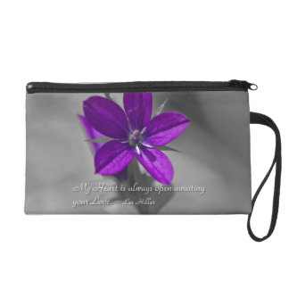 My Heart is always open... Wristlet Purse Bag