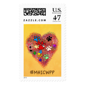 My Heart is covered with Paw Prints Stamp