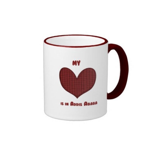 My Heart is in Addis Ababa Ringer Coffee Mug