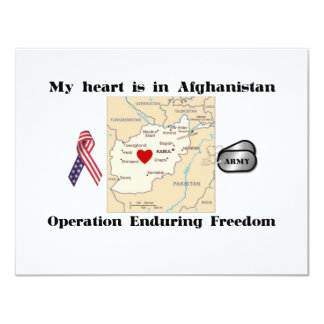 My Heart is in Afghanistan Card