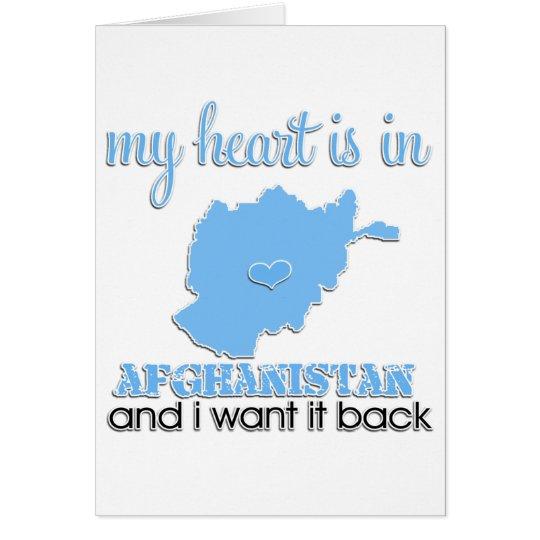 My Heart is in Afghanistan Card