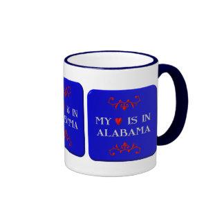 My heart is in Alabama Ringer Mug