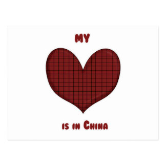 My Heart is in China Postcard