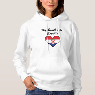 My Heart Is In Croatia Hoodie