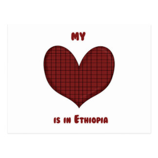 My Heart is in Ethiopia Postcard