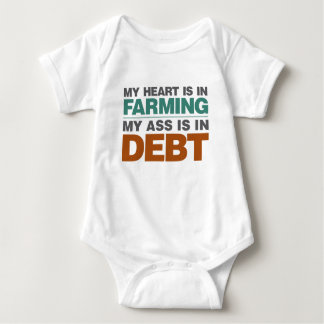 My Heart is in Farming but... Baby Bodysuit