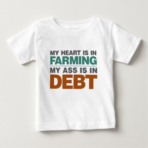 My Heart is in Farming but... Baby T-Shirt