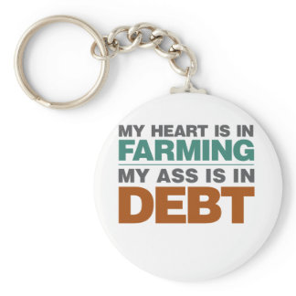 My Heart is in Farming but... Keychain