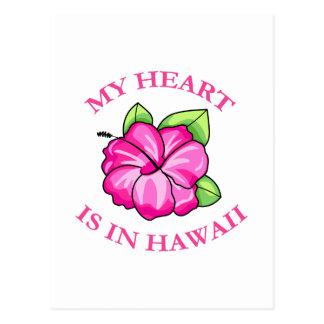 My Heart is in Hawaii Post Card