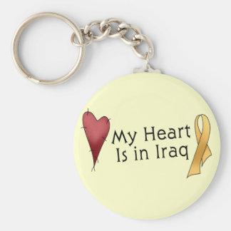 My Heart Is In Iraq Basic Round Button Keychain