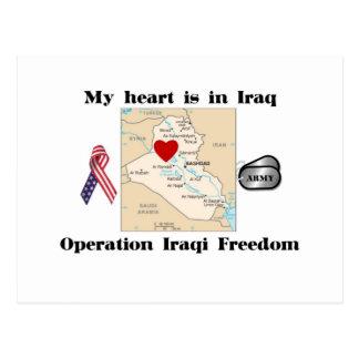 My Heart is in Iraq Postcard