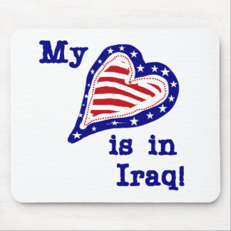 My Heart is in Iraq Tshirts and Gifts Mouse Pad