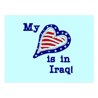 My Heart is in Iraq Tshirts and Gifts Postcard