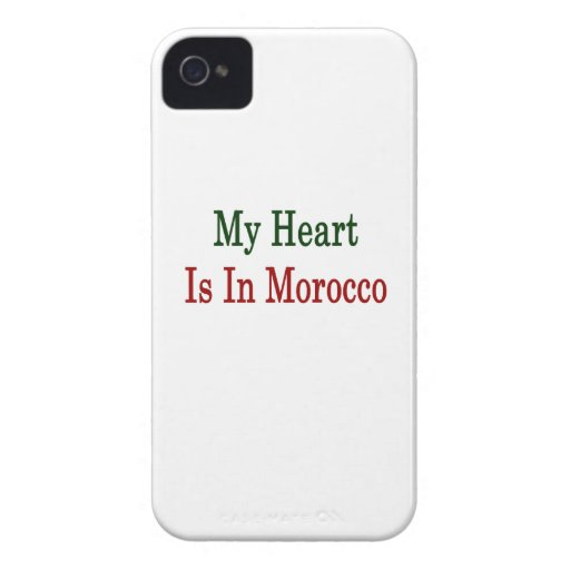 My Heart Is In Morocco iPhone 4 Cover