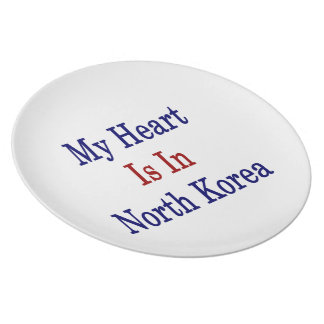 My Heart Is In North Korea Dinner Plates