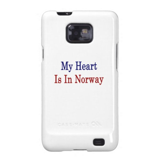 My Heart Is In Norway Samsung Galaxy S2 Case