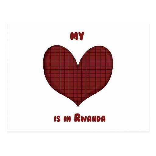 My Heart is in Rwanda Postcard