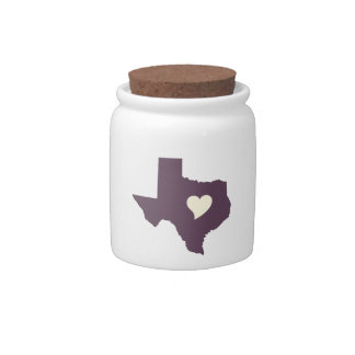 My heart is in Texas Candy Dishes