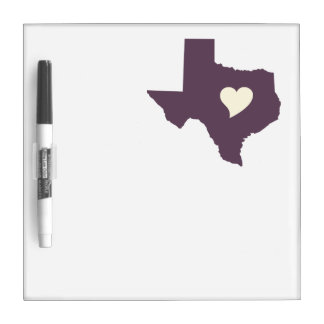 My heart is in Texas Dry-Erase Boards