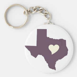 My heart is in Texas Key Chains