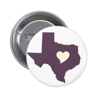 My heart is in Texas Pinback Button