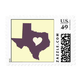 My heart is in Texas Stamp