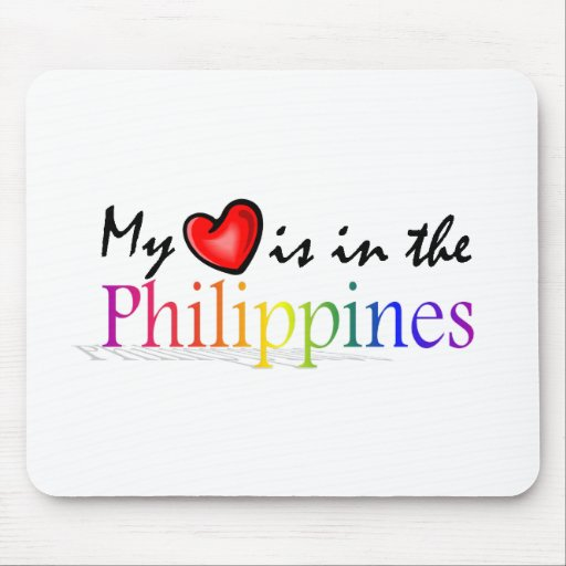 """""""My Heart is in the Philippines"""" Mousepad"""