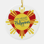 My Heart is in the Philippines Christmas Tree Ornaments
