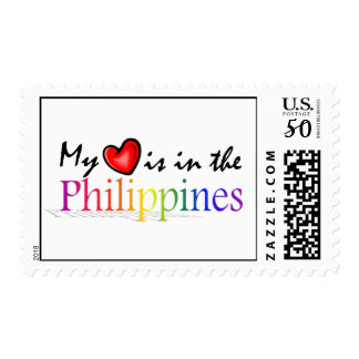 """""""My Heart is in the Philippines"""" Postage Stamp"""