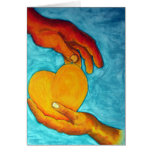 My heart is in your hands greeting card