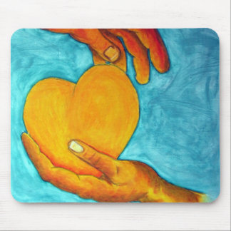 My heart is in your hands ~ Original Painting Mouse Pad