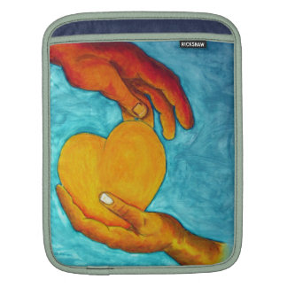 My heart is in your hands ~ Original Painting Sleeve For iPads