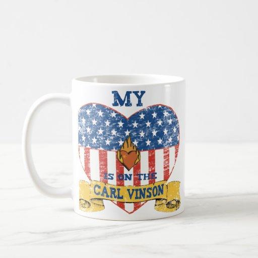My Heart is on the Carl Vinson Classic White Coffee Mug