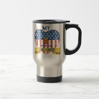 My Heart is on the Carl Vinson Travel Mug