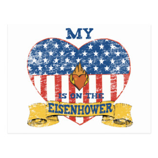 My Heart is on the Eisenhower Postcard