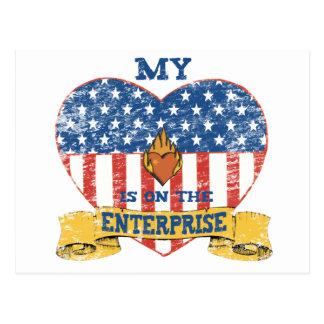 My Heart is on the Enterprise Postcard