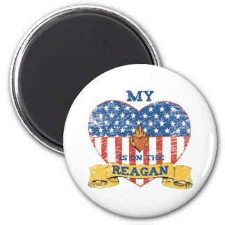 My Heart is on the Reagan 2 Inch Round Magnet