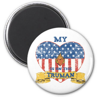 My Heart is on the Truman 2 Inch Round Magnet