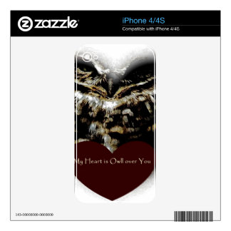 My heart is owll over you burrowing owl iphone 4s  decals for the iPhone 4