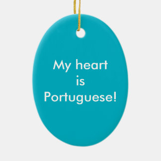 My heart is Portuguese Ceramic Ornament