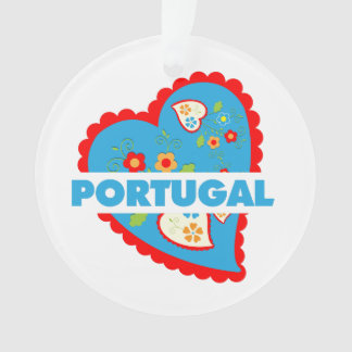 My heart is Portuguese Ornament