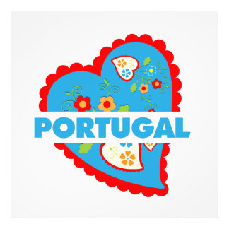 My heart is Portuguese Photo Print