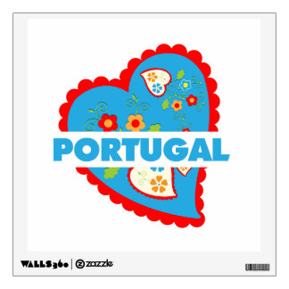 My heart is Portuguese Wall Decals