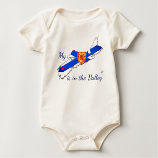 My Heart is the valley Nova Scotia baby shirt