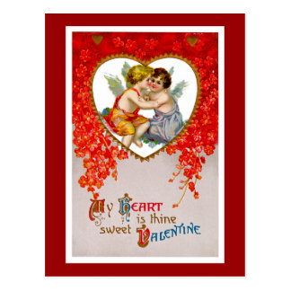My Heart is Thine Sweet Valentine Postcard