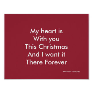My heart is why you this Christmas Poster