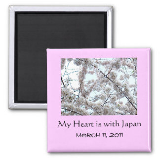 'My Heart is With Japan' Magnet