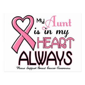 My Heart Is With My Aunt BREAST CANCER Post Cards