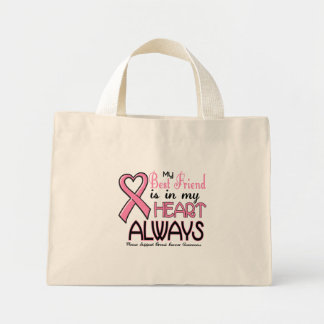 My Heart IS With My Best Friend BREAST CANCER Canvas Bag