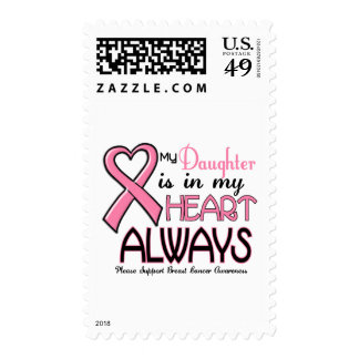 My Heart Is With My Daughter BREAST CANCER Postage Stamps